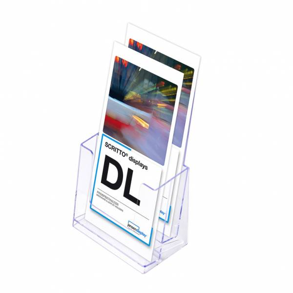 Porta depliant da banco con 2 tasche A6 DL SCRITTO