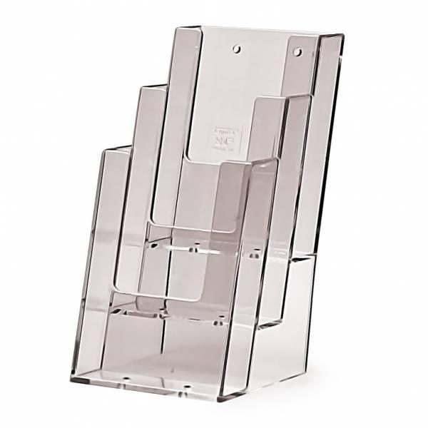 Portadepliant da Banco con 3 tasche 1/3 di A4 verticale