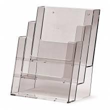 Portadepliant da parete/banco con 3 tasche A5