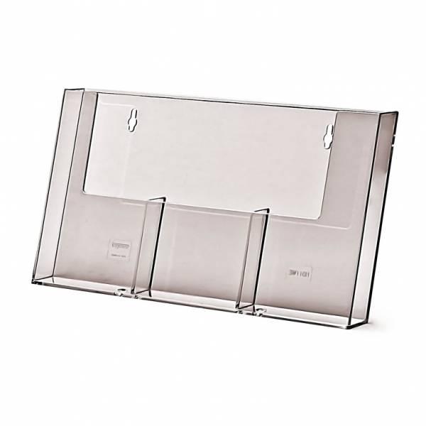 Portadepliant da Parete ampio con 3 tasche 1/3 di A4 verticale