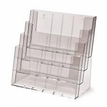 Portadepliant da parete/banco con 4 tasche A4, 12 tasche A6 o 8 tasche A4