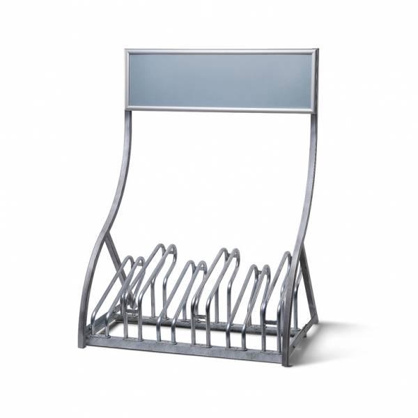 Porta biciclette in acciaio con Cornice a Scatto - per 6 biciclette