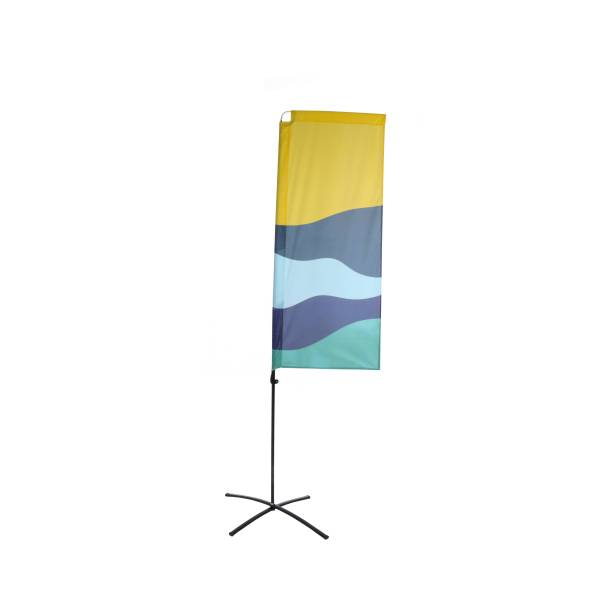 Budget Beach Square Flags Print