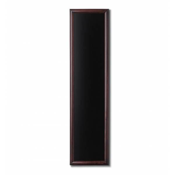 Lavagne nera da Parete 35x150 con cornice Marrone Scuro