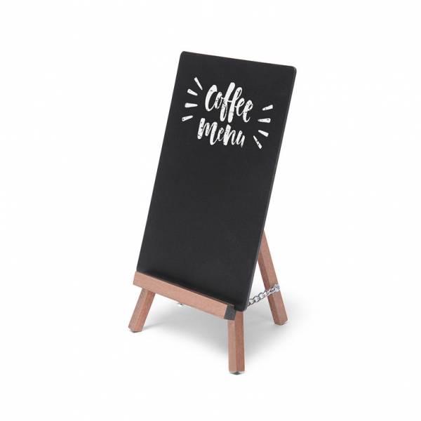 Lavagnetta da tavolo 12x20,4 con mini cavalletto, marrone chiaro