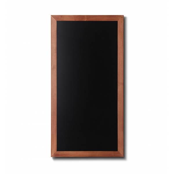 Lavagna nera da Parete 56x100 con cornice Marrone Chiaro