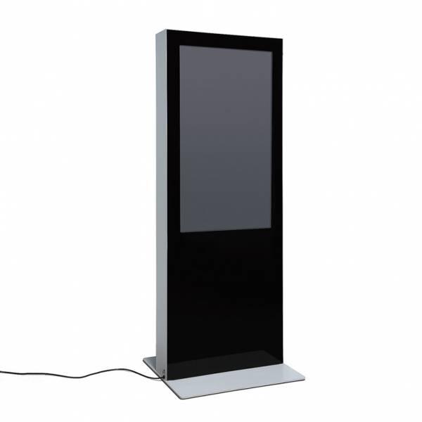 Totem digitale bifacciale con monitor Samsung