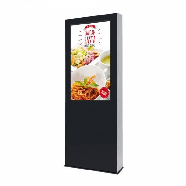 Totem digitale per esterno con monitor Samsung