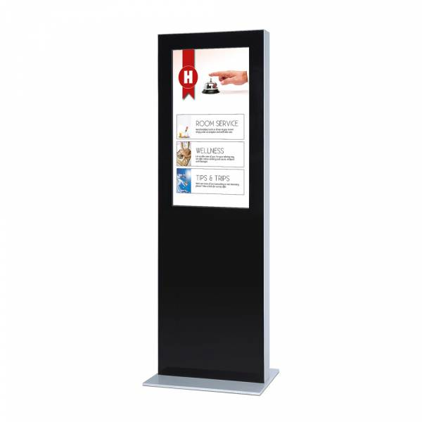 Totem digitale con monitor Samsung