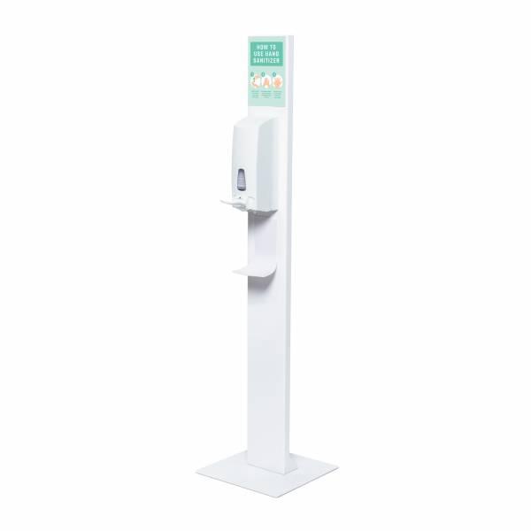 Colonnina igienizzante mani con dispenser manuale