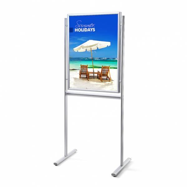 Porta Poster da terra 70x100 Info Board 25mm Bifacciale con angoli vivi