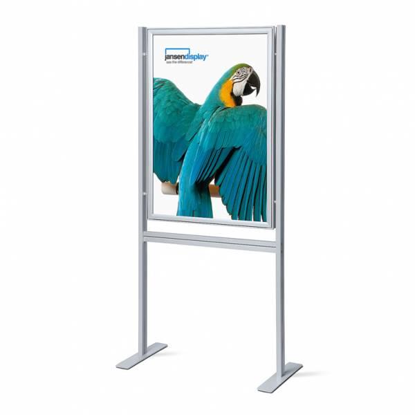 Porta Poster da terra 70x100  Info Board 37mm Bifacciale con angoli vivi