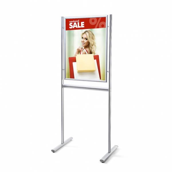 Porta Poster da terra A1 Info Board 25mm Monofacciale con angoli vivi