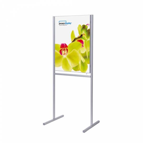 Porta poster da terra Info Board con tessuto T-Frame