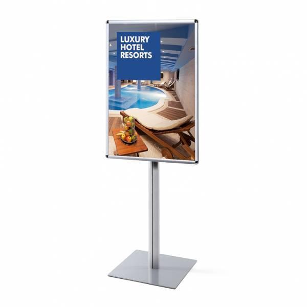 Porta Poster da terra 70x100 Info Pole 25mm Monofacciale con angoli tondi