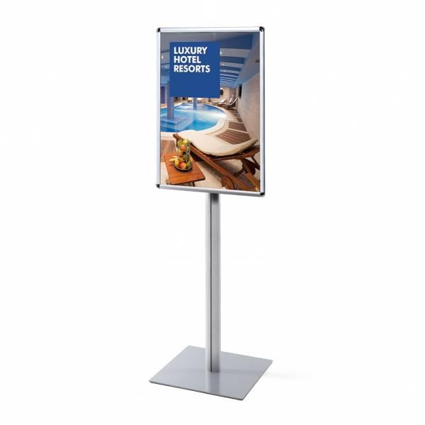 Porta Poster da terra A1 Info Pole 25mm Monofacciale con angoli tondi