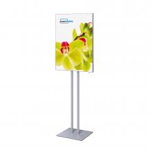 Porta poster da terra Info Pole con tessuto T-Frame