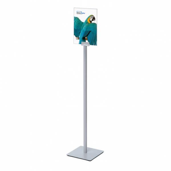 Porta avvisi da terra Info Pole con cornice in acrylglass A4