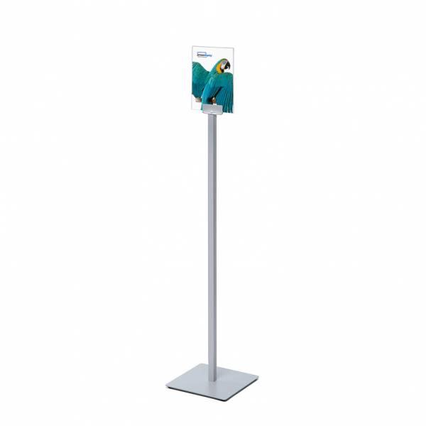 Porta avvisi da terra Info Pole con cornice in acrylglass A5