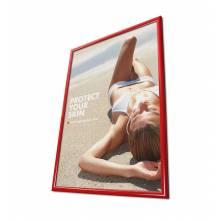 Cornice a scatto 50x70 25mm e angoli vivi, colore rosso