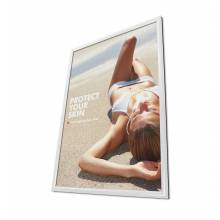 Cornice a scatto 50x70 25mm e angoli vivi, colore bianco