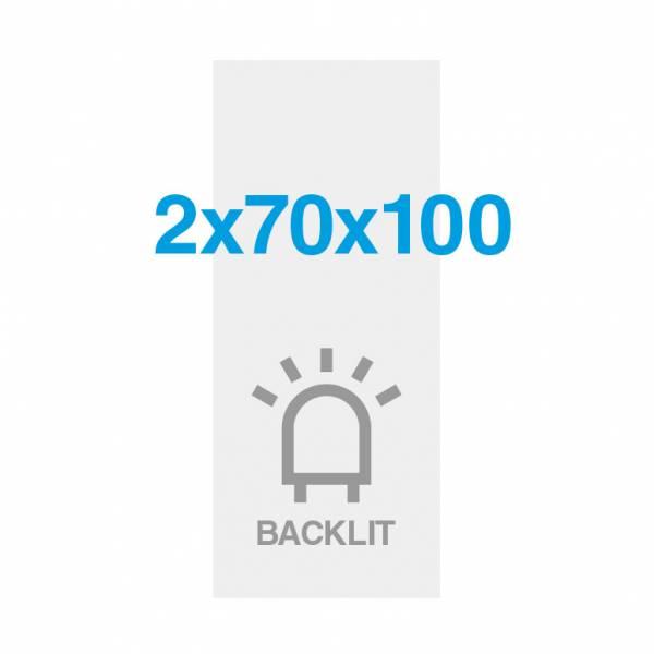 Pellicola Backlit Premium con superficie satinata 200g/m2, 70x200