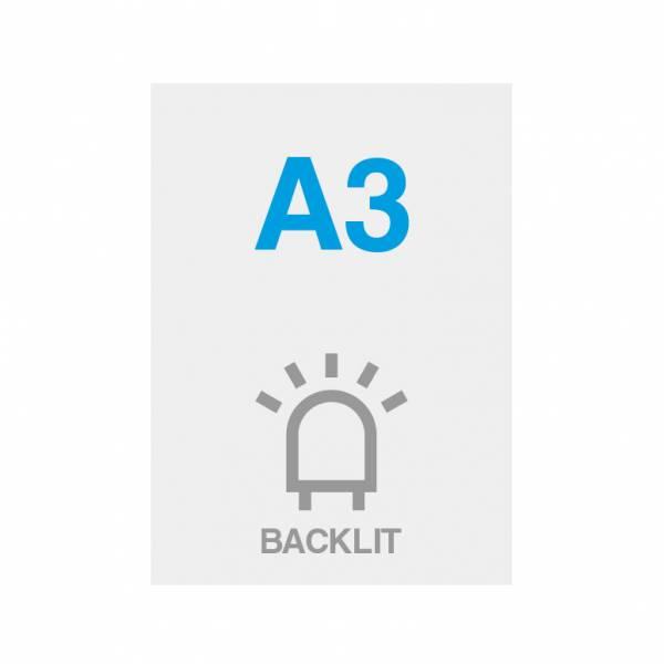 Pellicola Backlit Premium con superficie satinata 200g/m2, A3