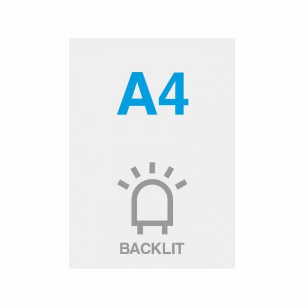 Pellicola Backlit Premium con superficie satinata 200g/m2, A4