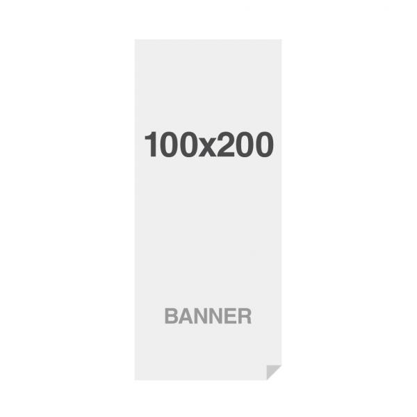 Banner Premium No-Curl con rete cucita, finitura opaca, 220 g/ m2 100x200