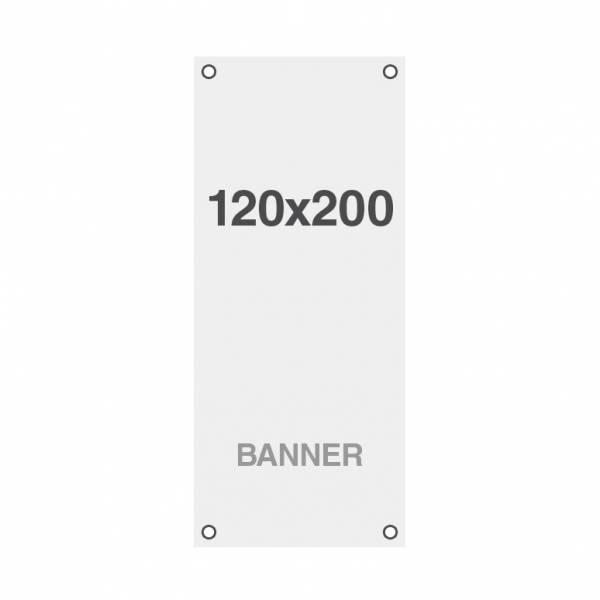Banner economico Symbio con rete cucita, 510g/m2, 120x200
