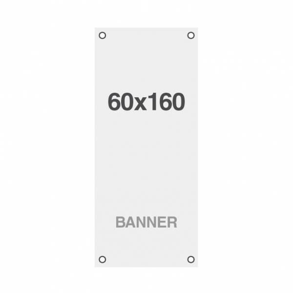 Banner Premium No-Curl con rete cucita, finitura opaca, 220 g/ m2, 60x160