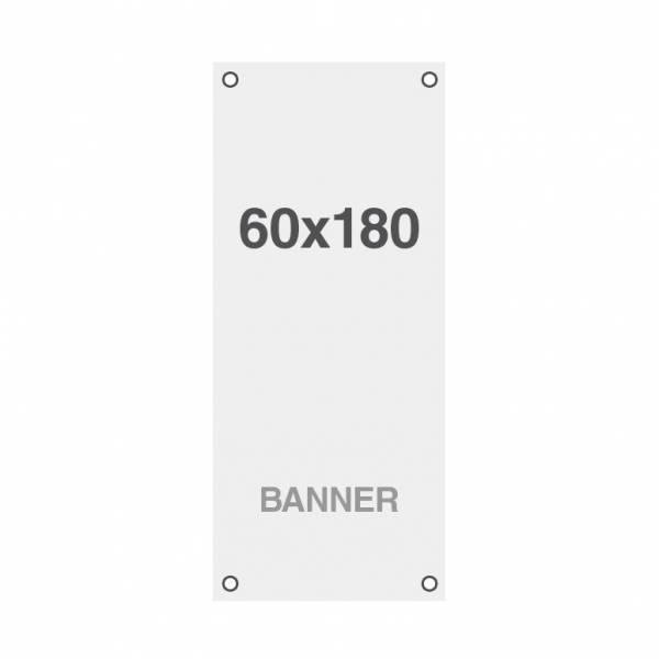 Banner Premium No-Curl con rete cucita, finitura opaca, 220 g/ m2, 60x180