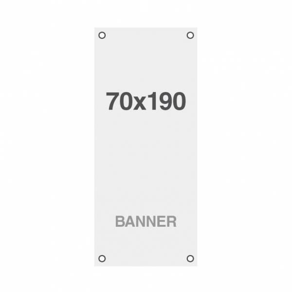 Banner Premium No-Curl con rete cucita, finitura opaca, 220 g/ m2, 70x190