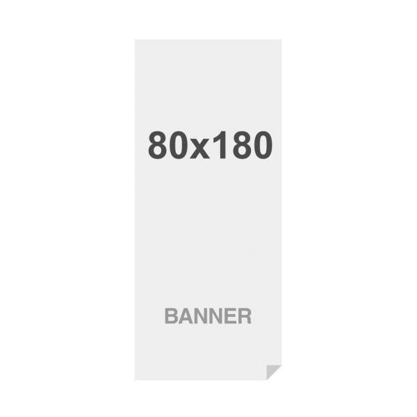 Banner Premium No-Curl con rete cucita, finitura opaca, 220 g/ m, 180x220