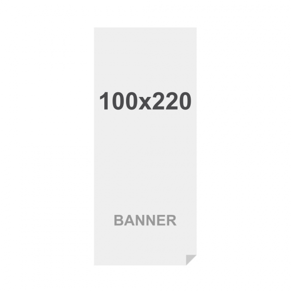 Banner No Curl in PP Premium 220g/m2, superficie opaca, 100x220