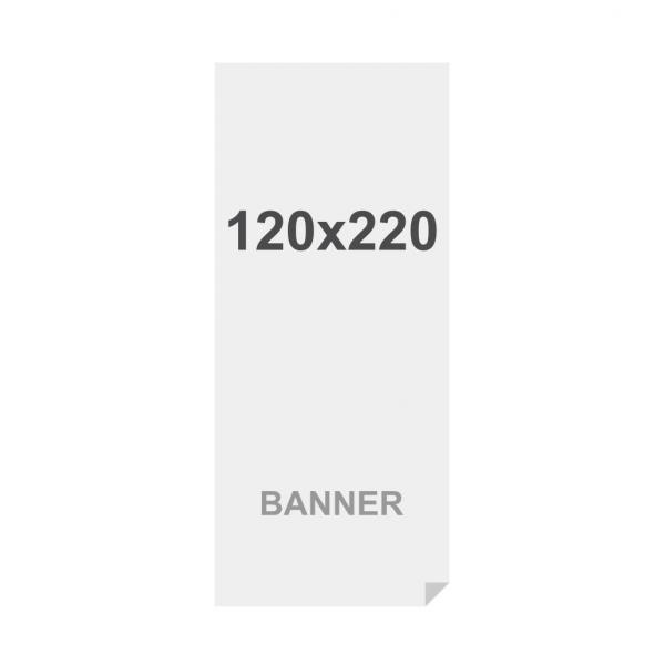 Banner No Curl in PP Premium 220g/m2, superficie opaca, 120x220