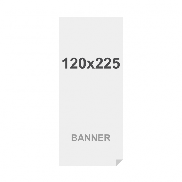 Banner No Curl in PP Premium 220g/m2, superficie opaca, 120x225