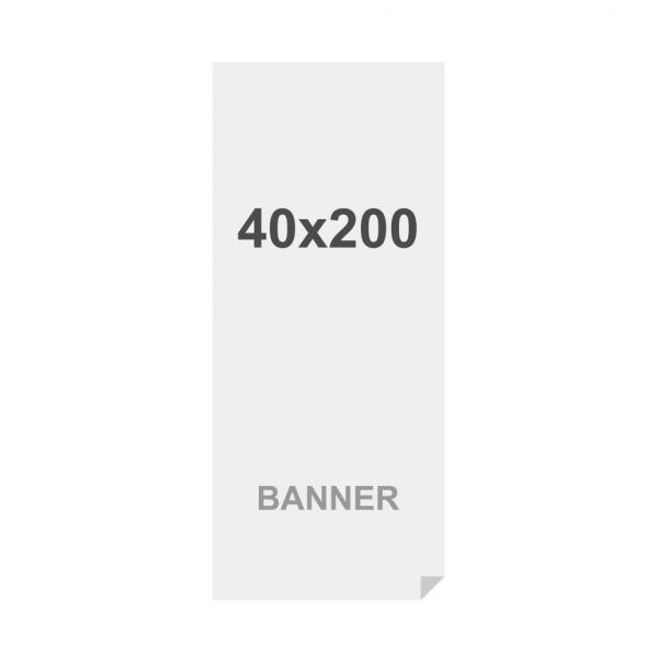 Banner No Curl in PP Premium 220g/m2, superficie opaca, 40x220