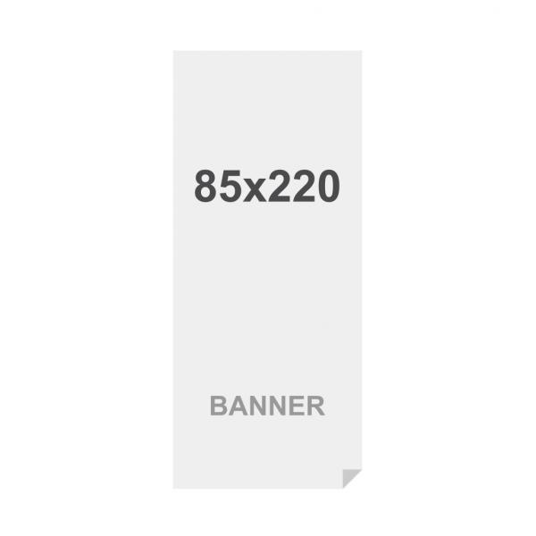 Banner No Curl in PP Premium 220g/m2, superficie opaca, 85x220