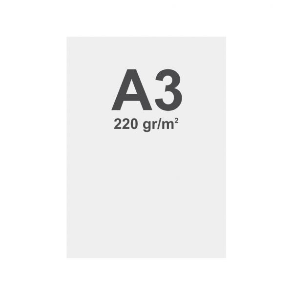 Banner No Curl in PP Premium 220g/m2, superficie opaca, A3