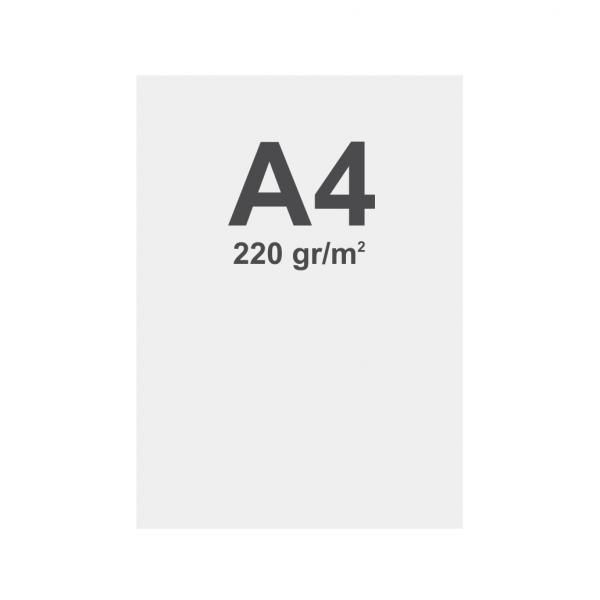 Banner No Curl in PP Premium 220g/m2, superficie opaca, A4