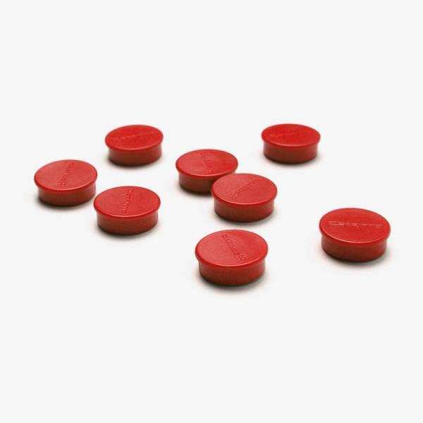 Kit di 8 magneti rossi diametro 20 mm