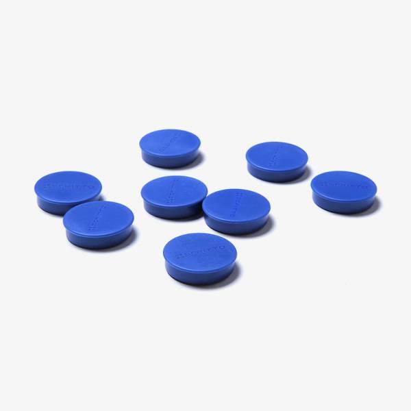 Kit di 8 magneti blu diametro 35 mm