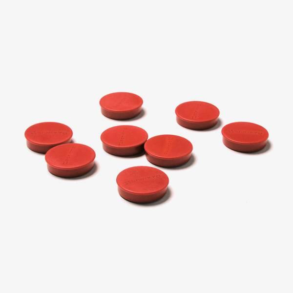 Kit di 8 magneti rossi diametro 35 mm