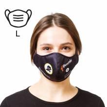 Mascherina protettiva in cotone - taglia L bianco, 100 pezzi