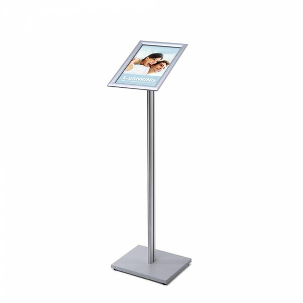 A4 Menu Display Stand 25 mm SECH Pole Wooden Base