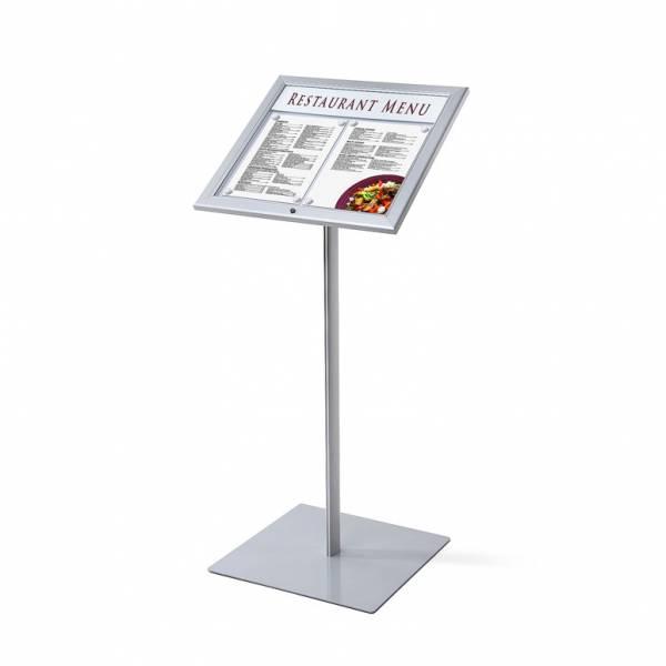 Leggio porta menu da esterno 2xA4 luminoso a LED