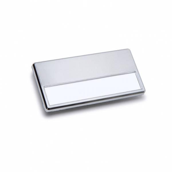 Badge porta nome magnetico, Silver