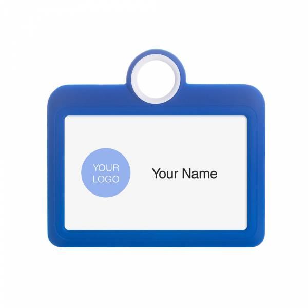 Porta badge colorato blu orizzontale 85x54