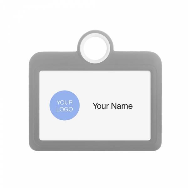 Porta badge colorato grigio orizzontale 85x54